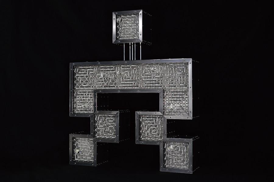占研 字谜·穴 2017 铝合金型材、铝合金板材、亚克力板材等 96×115×20cm (3) 拷贝