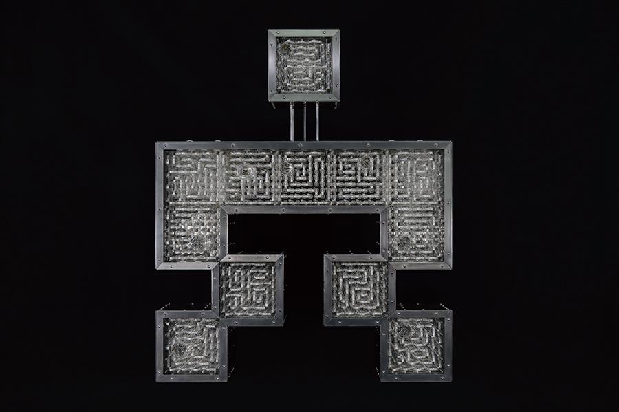 占研 字谜·穴 2017 铝合金型材、铝合金板材、亚克力板材等 96×115×20cm (1) 拷贝